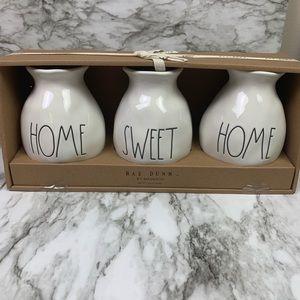 Rae Dunn Home Sweet Home Dimple Bud Vases
